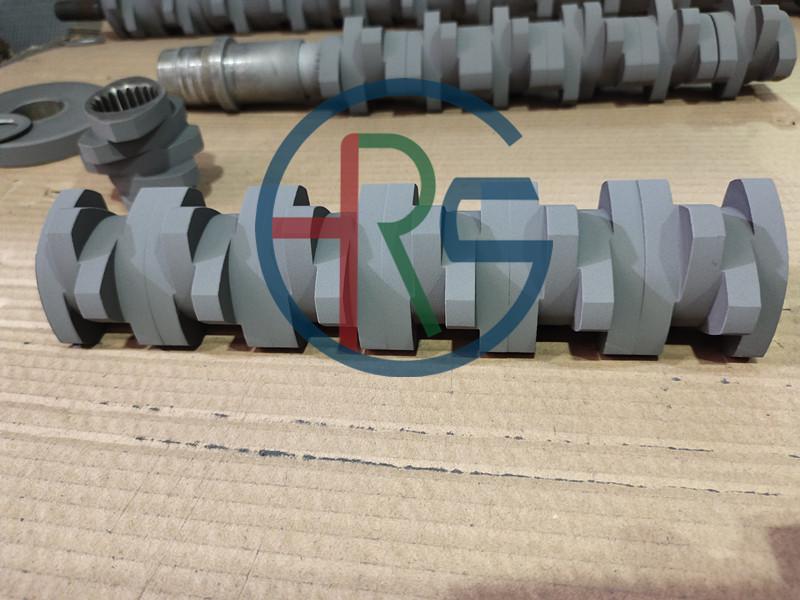 泰州螺旋轴碳化钨耐磨熔射加工缩略图