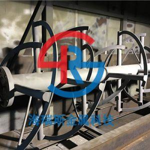 卧式螺带混合机喷涂碳化钨锂电螺带喷涂