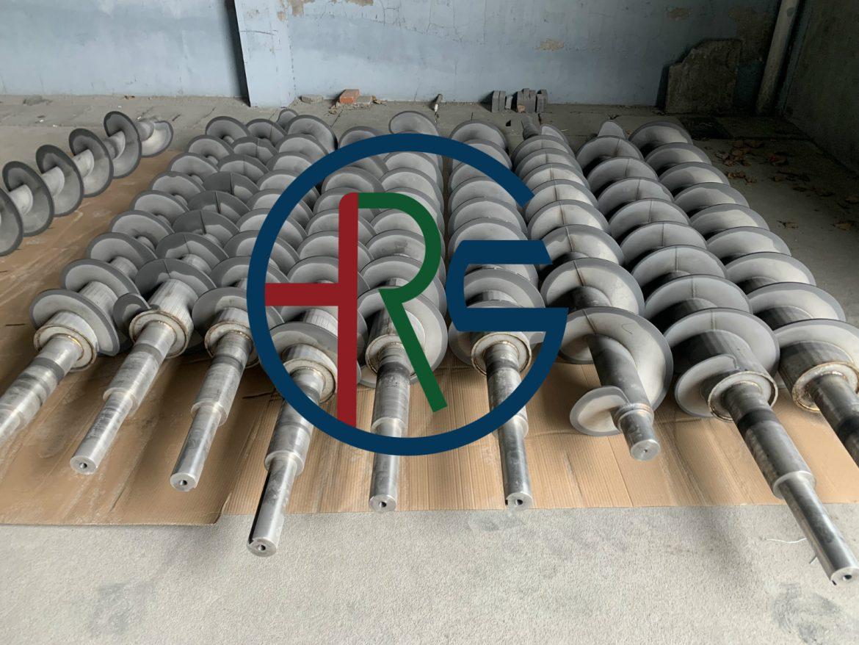 扬州叠螺机螺旋轴绞龙喷涂碳化钨硬质合金缩略图