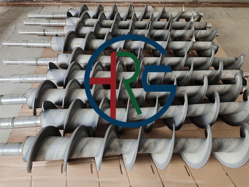 泰州叠螺机螺旋轴喷涂耐磨碳化钨(绞龙喷涂碳化钨)缩略图