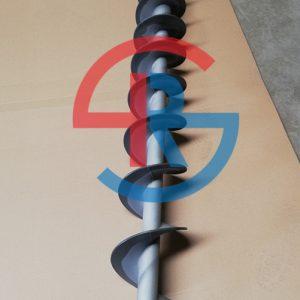 叠螺机螺旋轴喷涂耐磨碳化钨(绞龙喷涂碳化钨)