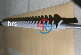 螺旋输送轴喷涂耐磨碳化钨涂层