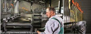 碳化钨粉末的生产和保存